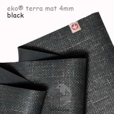 Легкий йога мат eKO terra, Black, 61см*173см*4мм, Мандука
