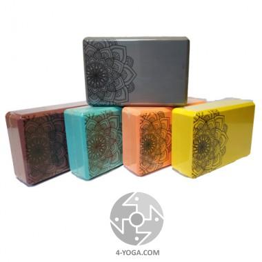 Прочный и легкий йога блок с изображением Мандалы