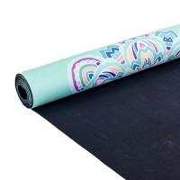 Йога мат каучуковый Индра (мятный) 61см*183см*3мм, Китай