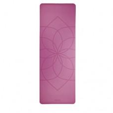 Каучуковый йога мат Феникс (Phoenix) 66см*185см*4мм, лиловый Living Flower, Бодхи