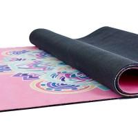 Йога мат каучуковый Тройной оберег (розовый) 61см*183см*3мм, Китай
