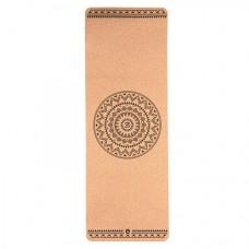 """Корковий килимок для йоги """"Етно Мандала"""" 66см*185см*4мм, Бодхі, Німеччина"""