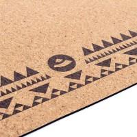 """Пробковый коврик для йоги """"Этно Мандала"""" 66см*185см*4мм, Бодхи, Германия"""