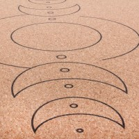 """Пробковый коврик для йоги """"Луна"""" 66см*185см*4мм, Бодхи, Германия"""