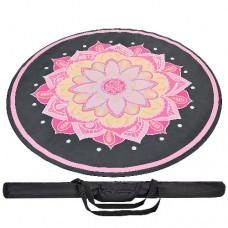 """Круглий килимок для йоги """"Вогняна квітка"""", 150см*3мм, Китай"""